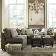 Beckie L-Shaped Sectional by Bassett Furniture. A transitional modular sectional with endless possibilities.