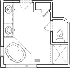 Ensuite Bathroom Floor Plans bathroom and closet floor plans |  plans/free 10x16 master
