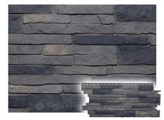 Nailon Stone Wall Plus Lewiston Crest Panel - W 44 - H 19 - Thick - Stone veneer siding with the look of real stone to improve curb appeal fast and affordably. Faux Stone Veneer, Stone Veneer Siding, Faux Stone Walls, Stone Veneer Panels, Rock Siding, Outdoor Walls, Outdoor Spaces, Outdoor Kitchens, Outdoor Ideas