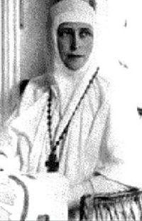 Grand Duchess Elizavetta Feodorovna, sister of Empress Alexandra Feodorovna, became a Russian Orthodox nun following the death of her husband Grand Duke Sergei