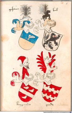 Bruderschaftsbuch des jülich-bergischen Hubertusordens Niederrhein, um 1500 Cod.icon. 318  Folio 111r