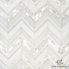 Magdalena, a handmade mosaic shown in polished Shell, Thassos, Dolomite and Afyon White | The Aurora Collection by Sara Baldwin for New Ravenna