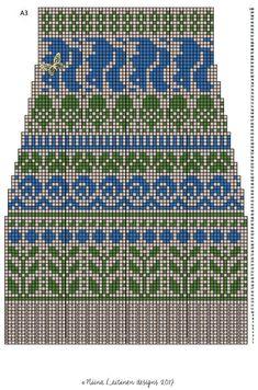 Knitting Charts, Knitting Socks, Mittens, Photo Wall, Cross Stitch, Diagram, Crochet, Pattern, Design