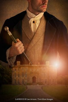 Lee Avison - victorian man superimposed with historical house - People - Men