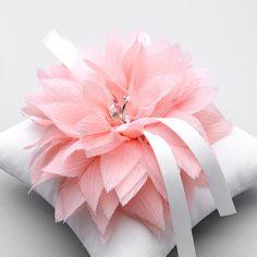 Rose fleur oreiller anneau, mariage oreiller anneau, oreiller porteur d