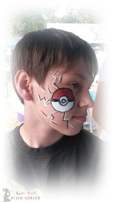 Kinderschminken auch was für Jungs ...http://www.feier-bunter.de - Kreativ - Events im Kreis Düren