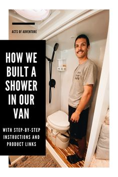 Building a DIY Wet Bath and Shower in a Promaster Van Conversion Transit Camper Conversion, Van Conversion Interior, Van Interior, Van Conversion Shower, Camper Van Shower, Diy Shower, Bath Shower, Van Home, Composting Toilet