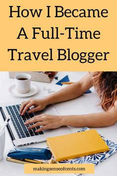 If blogging is a hobby of yours, you should think about making it your job. Learn how I became a full-time blogger and am able to live off that income here. Money Change, Change My Life, How To Become, Starting Your Own Business, Make More Money, Make Sense, Time Travel, Saving Money, Blog