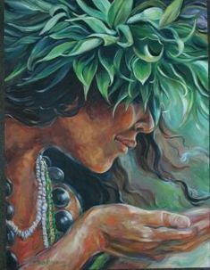 """Ho' okalakupua"" (Magic) by Kathy Ostman-Magnusen Polynesian Art, Polynesian Culture, Hawaiian Goddess, Hawaii Painting, Mode Poster, Hawaiian Tribal Tattoos, Inspiration Art, Hawaiian Art, Goddess Art"