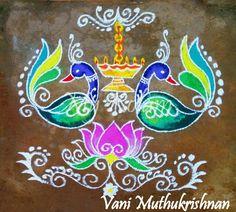 Kolam Rangoli Patterns, Rangoli Ideas, Rangoli Designs Diwali, Diwali Rangoli, Easy Rangoli, Peacock Rangoli, Indian Rangoli, Peacock Art, Simple Rangoli Designs Images