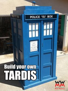 Build your own TARDIS! | Woodworking for Mere Mortals Cas: I need to find me a boyfriend who likes woodwork, it's the one craft I have no aptitude for.