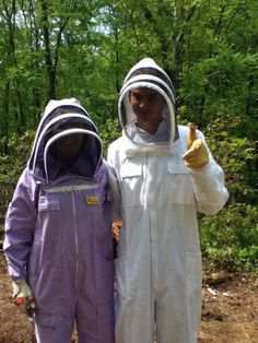 Mother and son beekeepers