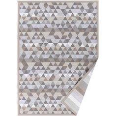 Béžový vzorovaný oboustranný koberec Narma Luke, 160x230cm