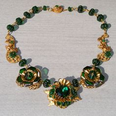 All Glass Vintage Signed Miriam Haskell Vintage Necklace Extraordinaire!  Vintage Jewelry Star Exclusive to Ruby Lane