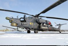 Mil Mi-28N Havoc (Called Nochnoy Ohotnik (Night Hunter) by pilots) of the Военно-воздушные cилы России (Russian Air Force VVS)