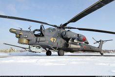 Mil Mi-28N Havoc (Called Nochnoy Ohotnik (Night Hunter) by pilots) of the Военно-воздушные cилы России (Russian Air Force VVS)