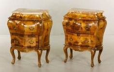 PAIR 19TH/20TH C. ITALIAN NIGHTSTANDS Estate of Mary L. Alchian of Palm Springs, CA | Kaminski Auctions 1/18/15