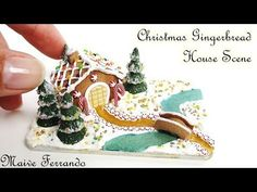 Miniature Christmas Gingerbread House Scene Tutorial