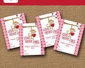 Kids Valentine Card Giraffe Valentine DIY by bunglehousedesigns