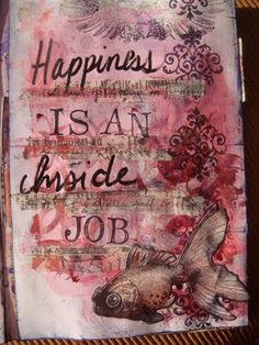 love the thought, love the texture - might change the fish for a bird or a butterfly or even a heart :)