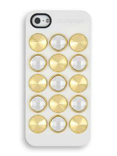Design your own studded case & change it whenever you want, the charms are removable! #iphonecase #studded #swarovski #gold #accessories