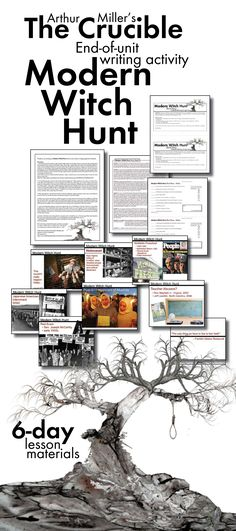 Crucible, Modern Witch Hunts, Creative Writing, Arthur Miller Play, The Crucible Teaching American Literature, Teaching History, Student Teaching, Teaching Secondary, English Classroom, School Classroom, Classroom Posters, Education English, Teaching English
