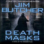I finished listening to Death Masks: The Dresden Files, Book 5 (Unabridged) by Jim Butcher, narrated by James Marsters on my Audible app.  Try Audible and get it free.