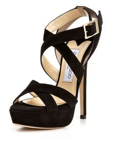 Jimmy Choo shoes to complete the dress outfit:)