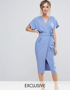 Closet London Short Sleeve Tie Front Dress