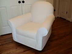 This is Pottery Barn's Dream nursery rocker, just one of the slipcovers I have patterned and have ready to make for you.
