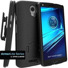 Motorola DROID TURBO 2 Combo Case w/ ClikLock Belt Clip Holster for Verizon XT1585 (By Encased)