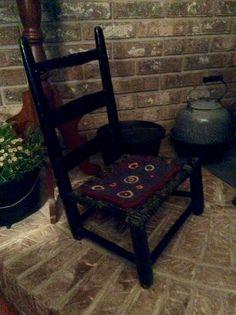 A little primitive chair.