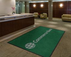 Commerce Bank Logo Rug