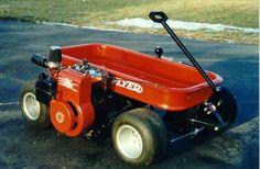 radio flyer go kart wagons Custom Radio Flyer Wagon, Radio Flyer Wagons, Kids Wagon, Toy Wagon, Gas Powered Rc Cars, Huge Truck, Homemade Go Kart, Go Kart Plans, Little Red Wagon