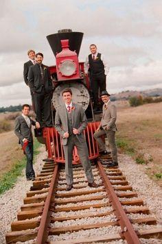 Those dapper groomsmen...the setting!