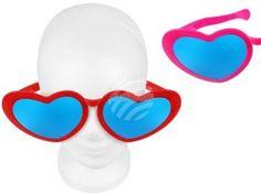 F-048 Fun Party Brille Form: XXL Herzen Farbe: pink