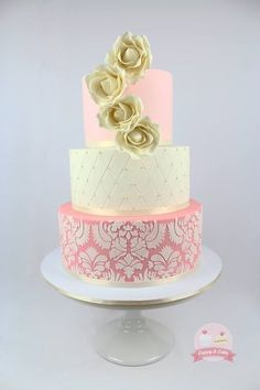 My 21st cake table - by cuppyandcake @ CakesDecor.com - cake decorating website