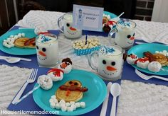 Snowman Breakfast for the Kids