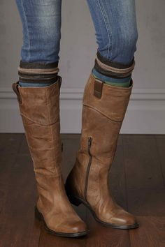 Riding boots + striped socks! #johnstonmurphy
