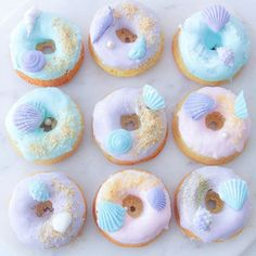 This theme is incredibly popular and enquires have been crazy! These are another set of Mermaid donuts made for the lovely last weekend. Hope you have a great Friday night ✨ donuts Mini Donuts, Cute Donuts, Doughnut, Little Mermaid Parties, The Little Mermaid, Delicious Donuts, Mermaid Cakes, Cute Desserts, Pink Desserts