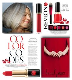 """""""Revlon #3"""" by scarletj17 ❤ liked on Polyvore featuring beauty, Kershaw, Revlon and beautydupes"""