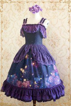 b06eb45a56d IchigoMiko ~Purple Delusion~ Bamboo Joint Printed Loilta JKS and OP Dress -  My Lolita Dress