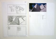 """Happy (belated) Birthday, Richard Meier! Photocopies of sketches and table of contents (handwritten by Massimo  Vignelli) for Richard Meier: The Getty Center book  8 3/8"""" x 11 3/4""""  Box 540, Massimo and Lella Vignelli Papers  Vignelli Center for Design Studies  Rochester, New York"""