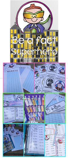 Be a Fact Superhero is a great center activity for the whole year. Your students will be motivated to work on their addition and subtraction facts.