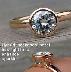 There is something stunning about the peek-a-boo bezel setting! Very modern and unique.