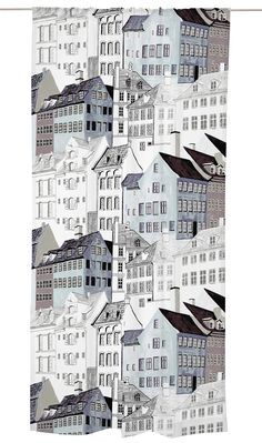 Kobenhavn curtain, featuring an urban design by Vallila designer Riina Kuikka, continues the popular series of urban landscapes. Featuring the beautiful architecture of Copenhagen and northern Europe, the contemporary home interior fabric features simp Classic Architecture, Beautiful Architecture, Interior Design Elements, Nature Illustration, Scandinavian Christmas, Urban Landscape, Wall Prints, Fabric Design, Branding Design