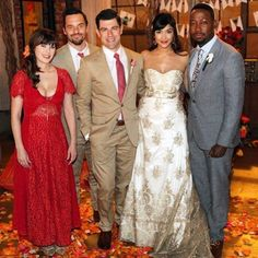 See an exclusive first look of Cece and Schmidt's wedding on New Girl and read Hannah Simone's interview about the wedding with The Knot! Cece New Girl, New Girl Cast, New Girl Tv Show, Wedding Dresses For Girls, Girls Dresses, Flower Girl Dresses, Dress Girl, New Girl Series, New Girl Style