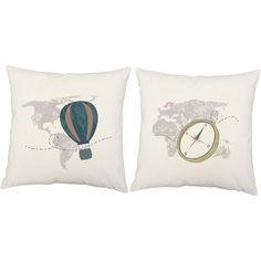 This pillow pair lends an old world, whimsical feeling to any of your favorite places. Simple and classic, these pillows are perfect for a study or library.FEAT