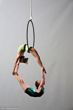 lyra duo on aerial hoop. #aerial #circus