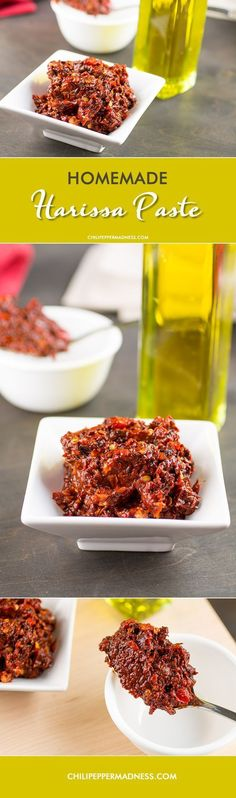 Homemade Harissa Paste from Chili Pepper Madness. So many uses. Great to have on hand for quick meals with a lot of flavor.